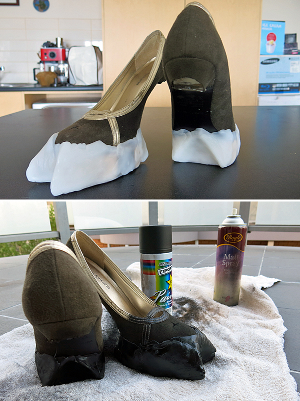 Sculpted hooves.