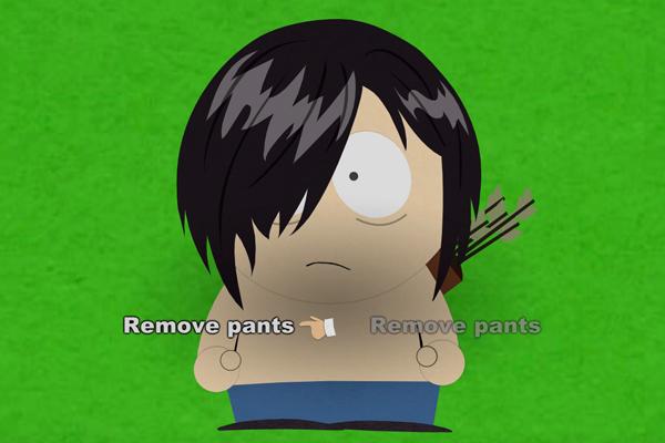 remove pants