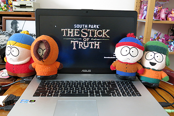 tSoT title screen displayed with plush dolls.