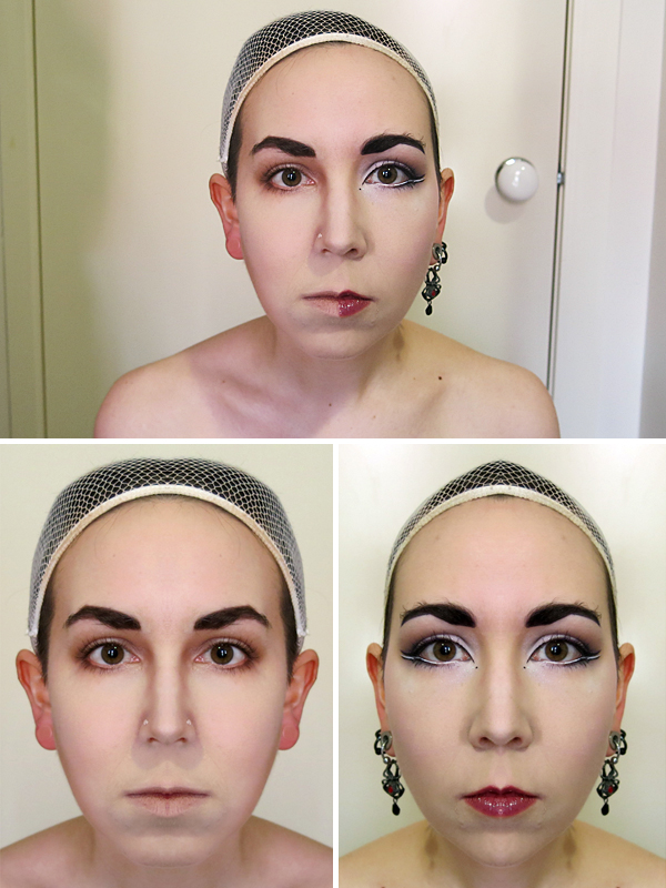 How to draw attention to the fact that your face is not symmetrical.