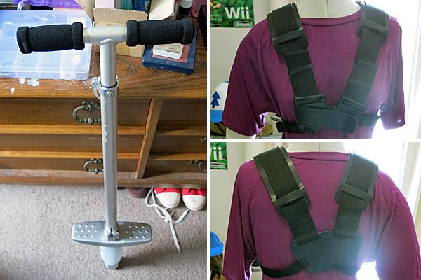 pogo-stick and harness