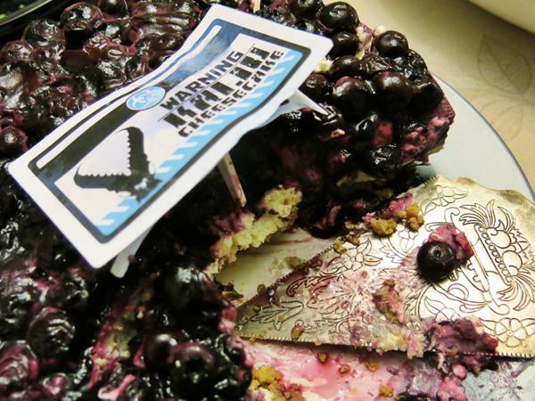 blueberry kaiju cheesecake
