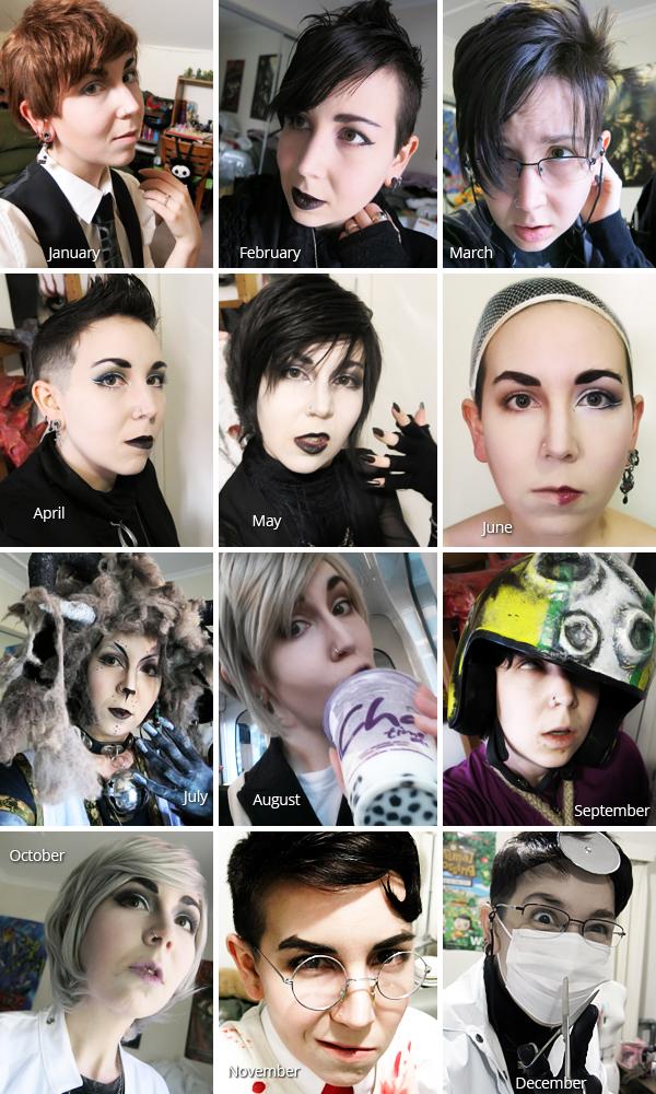 A year in selfies.