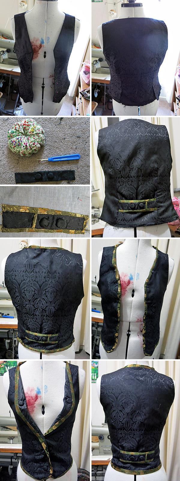 Waistcoat alterations.