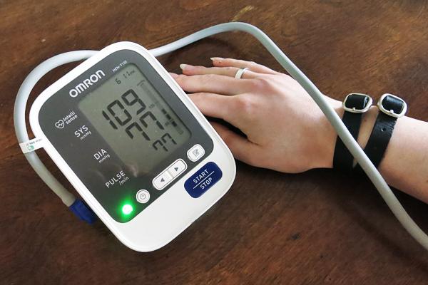 Normal blood pressure.